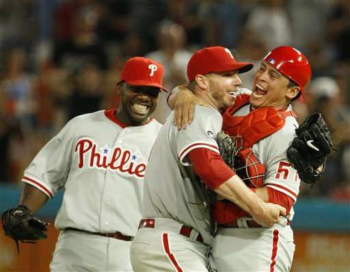 Roy Halladay, Ryan Howard, Carlos Ruiz
