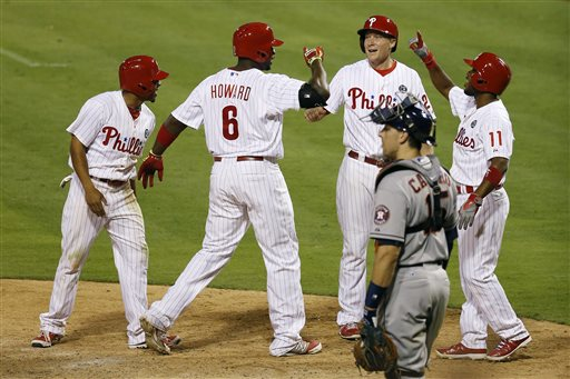 Ryan Howard, Cody Asche, Jimmy Rollins, Ben Revere, Jason Castro